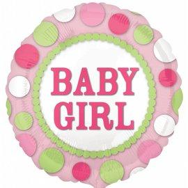 "Foil Balloon - Baby Girl - 17"""