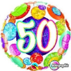 """Foil Balloon - 50th - 18"""""""