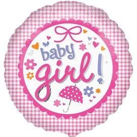 "Foil Balloon - Baby Girl! - 17"""