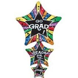 """Foil Balloon - Go Grad - 42"""""""