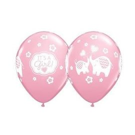 "Latex Balloon - It's a Girl (12"") -1pc"