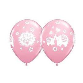 "Latex Balloon - It's a Girl (12"") -1pc"