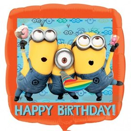 Foil Balloon - Happy Birthday Despicable Me - 17""