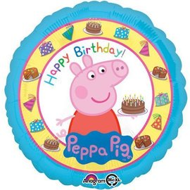 "Foil Balloon - Happy Birthday Peppa Pig - 17"""
