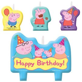Candle Set - Peppa Pig - 4pc