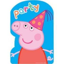 Invitations - Peppa Pig - 8pk