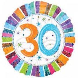 """Foil Balloon - 30th - 18"""""""