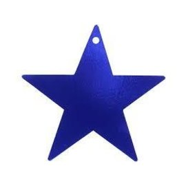 "Cutout - Foil - Star - Blue - 9"""