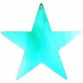 "Cutout- Foil - Star - Blue - 12"""