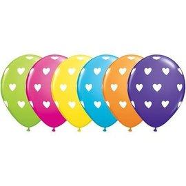 "Latex Balloons - Big Hearts - 11"""