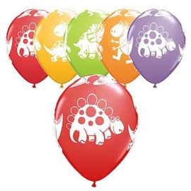 Latex Balloons - Cute & Cuddly Dinosaurs - 11""