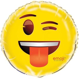 Emoji-Winky Face With Tongue Foil Balloon 18""