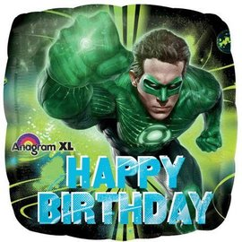 Foil Balloon-Green Lantern Happy Birthday 18""