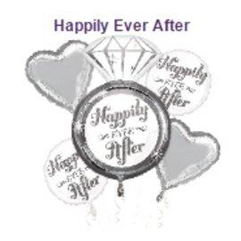 Foil Balloon-Happily Ever After Foil Bouquet 5pc