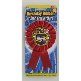 I'm 5 Birthday Ribbon
