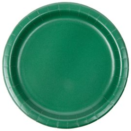 "Plates Paper Bev Hunter green 7"" (20PK)- Discontinued"
