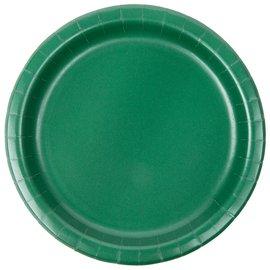 "Plates Paper Bev Hunter green 7"" (20PK)"