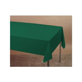 Table Cover Plastic Hunter Green (54 IN x 108 IN)