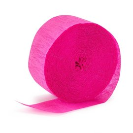 "Paper Crepe Streamer-Bright Pink (500 feet x 1.7"")"