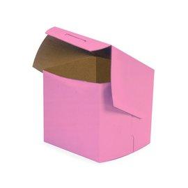 "Cake Box 4"" x 4"" x 4"" Pink"