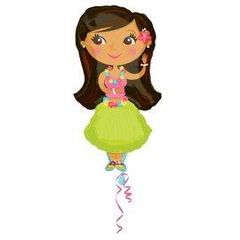 "Foil Balloon-Giant Hula Girl 35"""