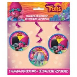 Trolls Hanging Decorations 3pcs