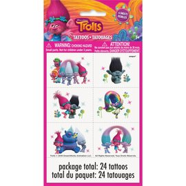 Trolls Tattoos 24pk
