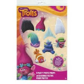 Trolls Party Photo Props 8pk