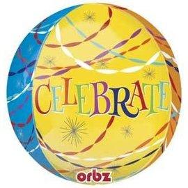"Foil Ballon-Celebrate Orbz 16"""