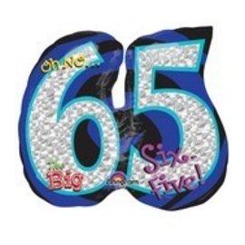 "Foil Balloon-65th Birthday SuperShape 27"""