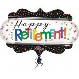"""Foil Balloon-Happy Retirement SuperShape 27"""""""