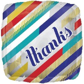 "Foil Balloon-Thanks Square 17"""