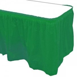 Plastic Table Skirt - Hunter Green 29 x 168 in- Final Sale