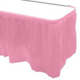Plastic Table Skirt - New Pink 33.9 SQ ft.