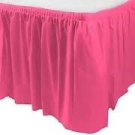 Plastic Table Skirt - Bright Pink 33.9 SQ ft.
