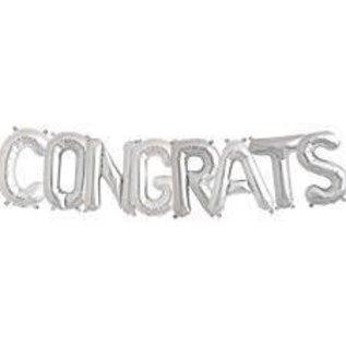 Air Filled Congrats Ballon Kit Silver