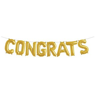 Air Filled Congrats Balloon Kit Gold