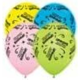 "Balloons - Q-Lite Happy Birthday Pastel Latex LED 11"" 4pk"
