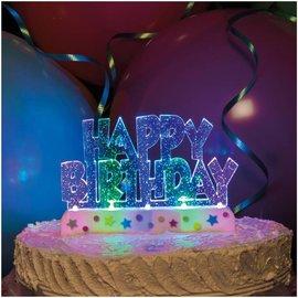Flashing Cake Topper-Happy Birthday