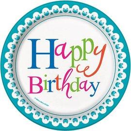 Plates Bev-Confetti Cake Birthday