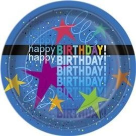 Plates-BEV-Cosmic Birthday-8pk-Paper