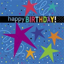 Napkins-BEV--Cosmic Birthday-16pk-2ply