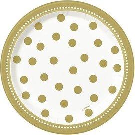 Plates Bev-Golden Birthday-8pk-Paper- Discontinued