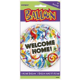"""Foil Balloon - Welcome Home Streamers - 18"""""""