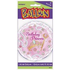 "Foil Balloon - Birthday Princess - 18"""