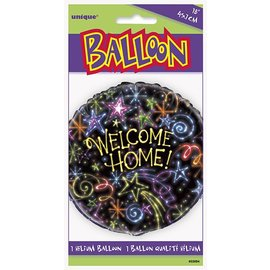 """Foil Balloon - Welcome Home Fireworks - 18"""""""