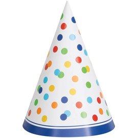 Hats - Rainbow Dots-8pk-Paper