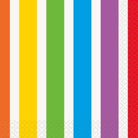 Napkins-BEV-Rainbow Birthday-16pk-2ply- Discontinued