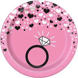 """Plates - Bev -Bachelorette Party - 8pkg - 6.75"""""""