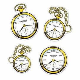 Alice In Wonderland - Clock Cutouts - 4pk